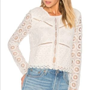 Lovers + Friends White Lace Top